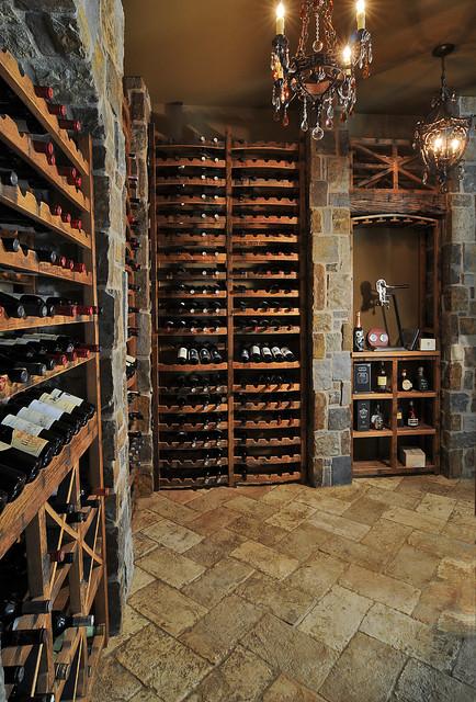 Reclaimed Wine Barrel Wine Cellars traditional-wine-cellar