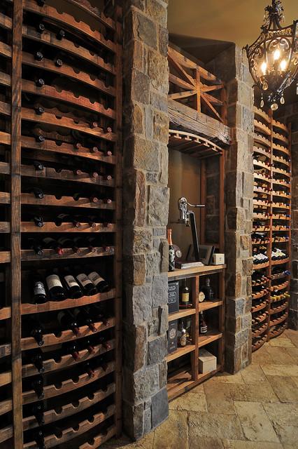 Wine Barrel Sink Adds Personality to Rustic Wine Cellar   HGTV   Barrel Wine Cellar