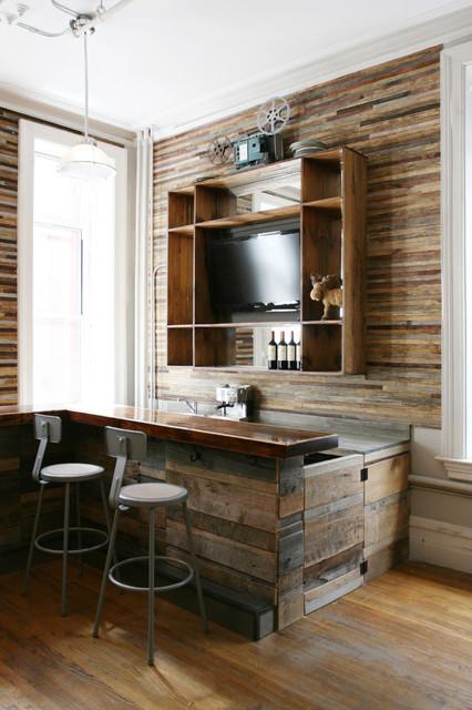 Reclaimed Wood Bar Rustic Wine Cellar
