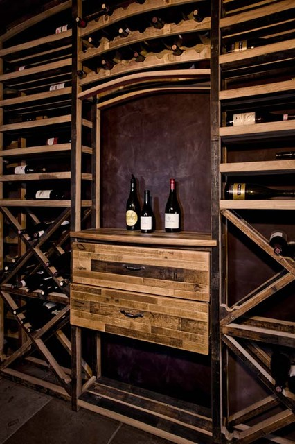 Recycled Wine Barrels - Eclectic - Wine Cellar - orange county - by Vintage Cellars