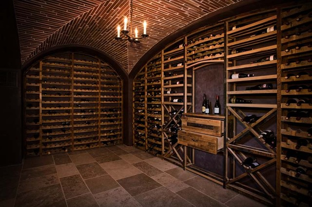 Our French Inspired Home: Old World Rustic Wine Cellars   Barrel Wine Cellar