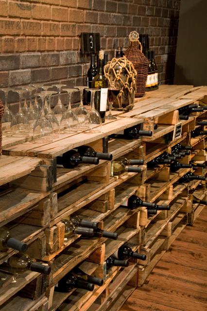 Repurposed Pallets - Traditional - Wine Cellar - cincinnati - by RVGP Photo+Graphics
