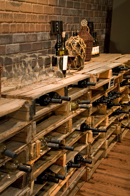Repurposed Pallets traditional-wine-cellar