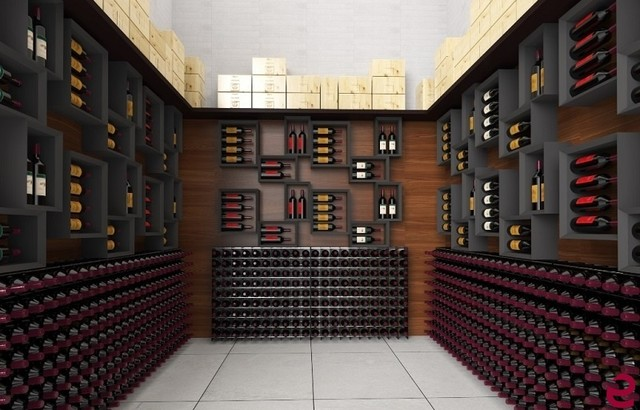 Residential wine cellar furniture Modern Wine Cellar Venice