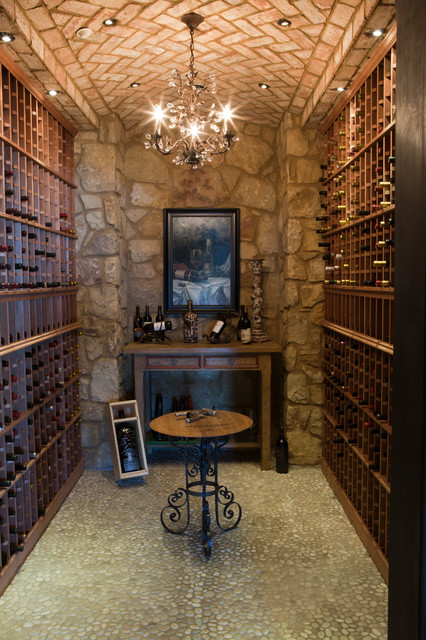 Rimstone  Mediterranean  Wine Cellar  dallas  by RJ Aldriedge Companies Inc