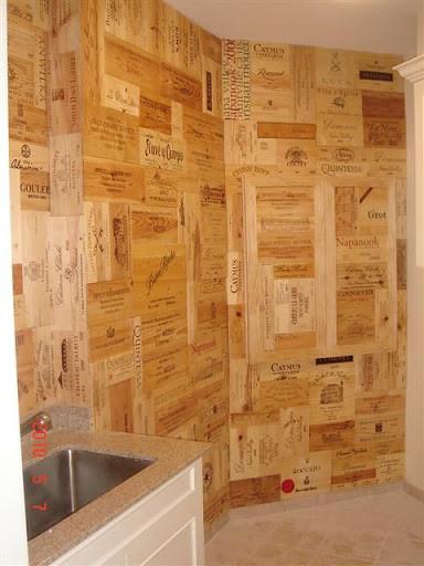 Ritz Carlton Dallas Wine Crate Panel Project modern-wine-cellar