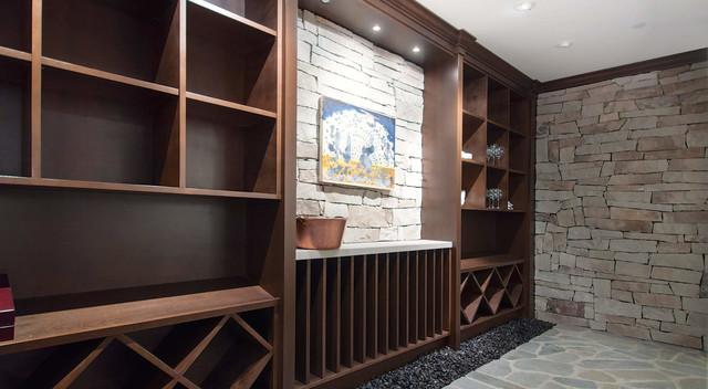Modern Wine Cellar Newark River Front Modern Luxury modern-wine-cellar
