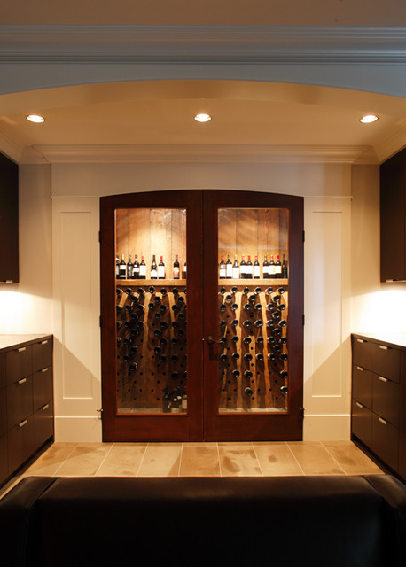 Robert Bailey Interiors eclectic-wine-cellar