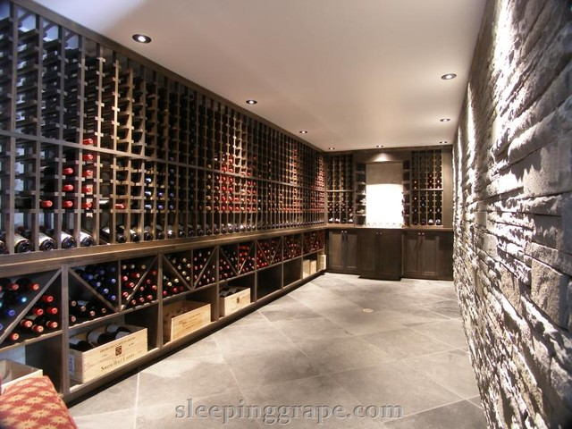 Rock Wall Wine Cellar contemporary wine cellar