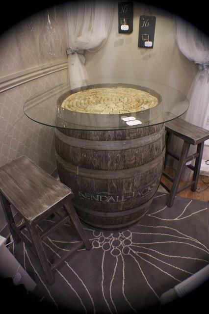 rustic elegance eclectic-wine-cellar