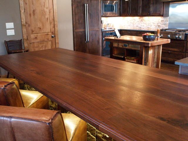 Rustic Gun Room in Texas highlights Texas Walnut Wood Tops - Rustic - Wine Cellar - austin - by ...