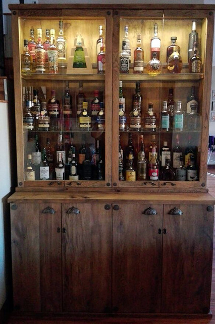 Rustic Oak Whisky Cabinet Rustic Wine Cellar Other
