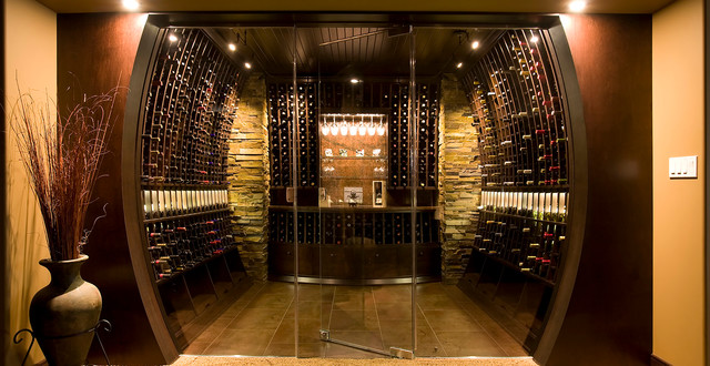 samples of wine cellars moderne cave vin toronto par deluxe wine cellars inc. Black Bedroom Furniture Sets. Home Design Ideas