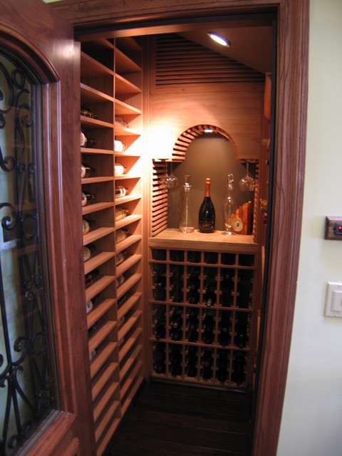 San Francisco Private Residence traditional wine cellar