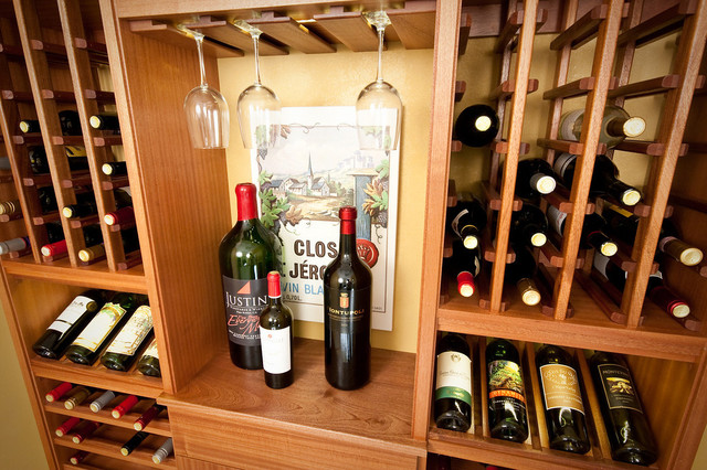 Select Series 'Wall Install' Floating wine racks traditional-wine-cellar