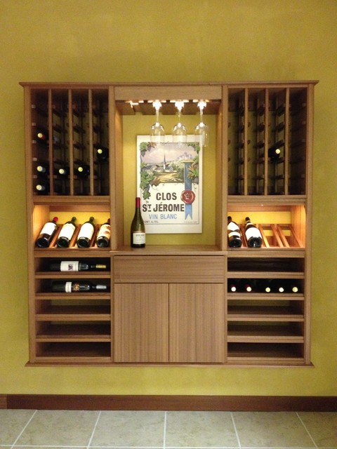 select series 'wall install' modular wine cabinets - transitional