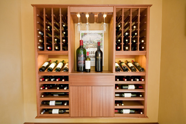 select series 'wall install' modular wine cabinets - contemporary