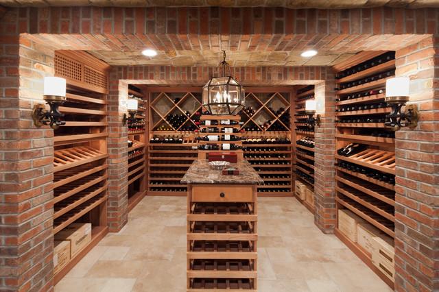 small wine closet ideas - Short Hills Wine Cellar Traditional Wine Cellar new