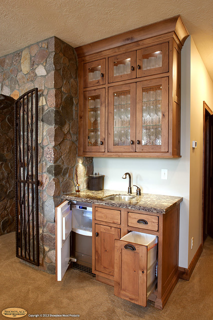Showplace cabinets wine cellar traditional wine cellar other metro by showplace wood - Bar built into wall ...