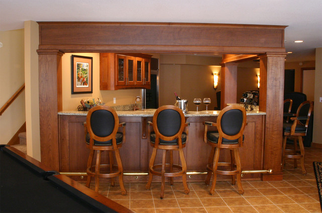 Silver Leaf Cabinets traditional wine cellar