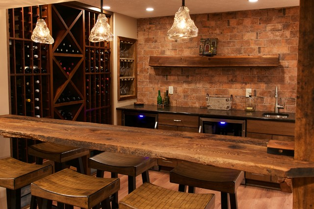 Slabaugh Remodeling Best Basement Ever Contemporary Rustic Finished Basement