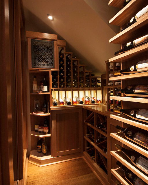 Home Bar Design Ideas Houzz: Small Space Wine Cellars By Papro Consulting