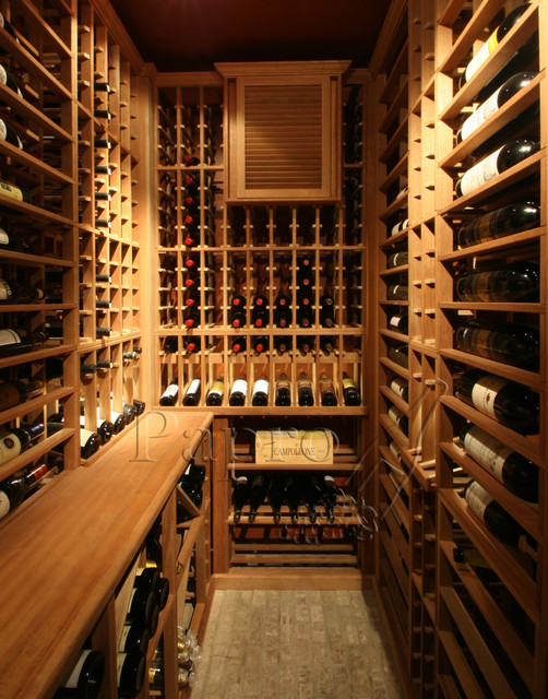 Small space wine cellars by papro consulting transitional wine cellar toronto by papro - Small space wine racks design ...