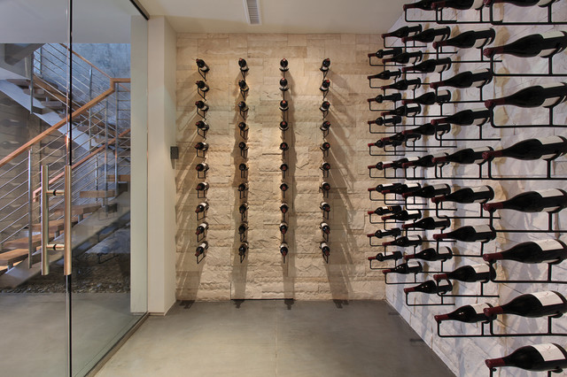 Snug Harbor contemporary wine cellar
