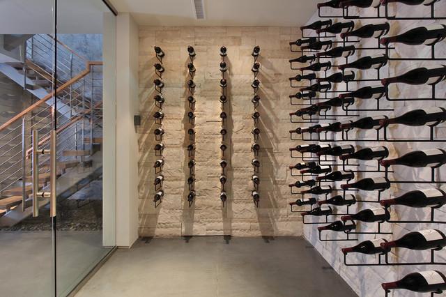 Snug Harbor contemporary-wine-cellar