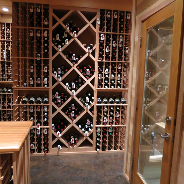 Solid Backing - Traditional - Wine Cellar - other metro - by Vintage Cellars