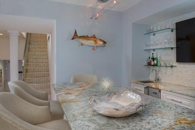 South Padre Island contemporary-wine-cellar