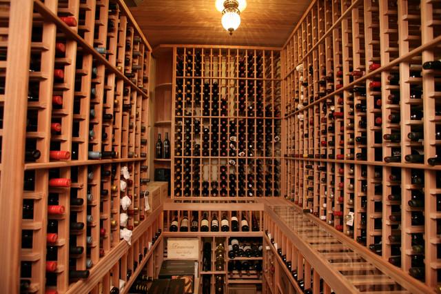 ideas for small attic bathrooms - South Tampa Custom Home Mediterranean Wine Cellar