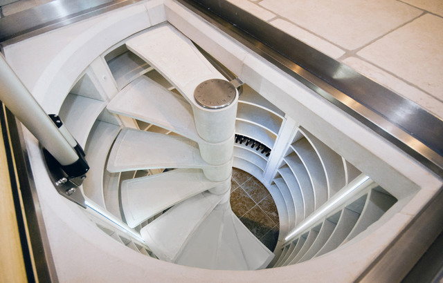 Spiral Stair Wine Cellar Uk Contemporary
