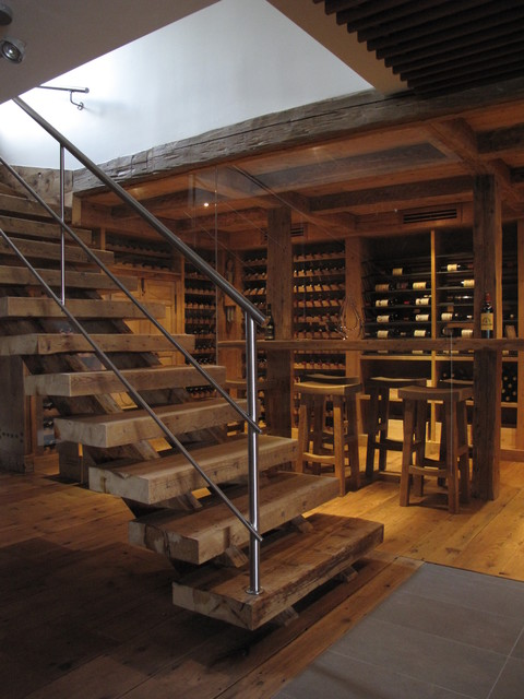 Staircase Escalier Rustic Wine Cellar Montreal