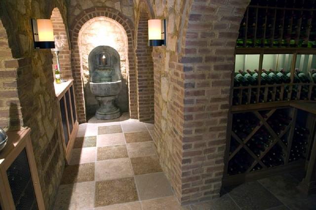 Stone Impressions Custom Murals & Accents traditional-wine-cellar