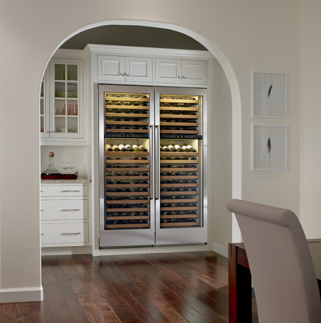 SubZero 27u0026quot; Builtin Dual Zone Wine Storage, Custom Panel  427G  Transitional  Wine Cellar