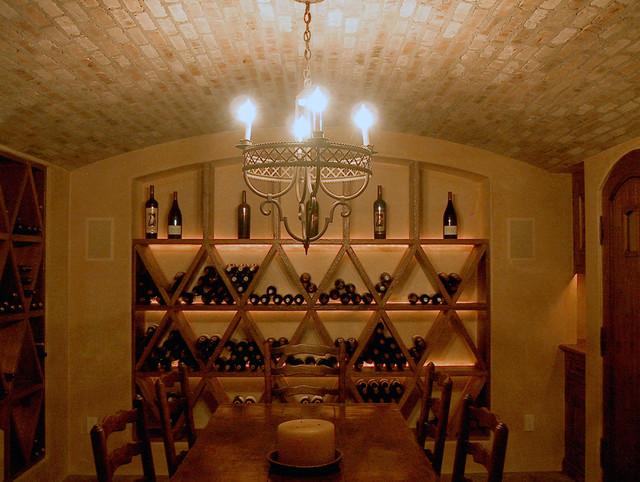 Taylor Lombardo Architects mediterranean-wine-cellar