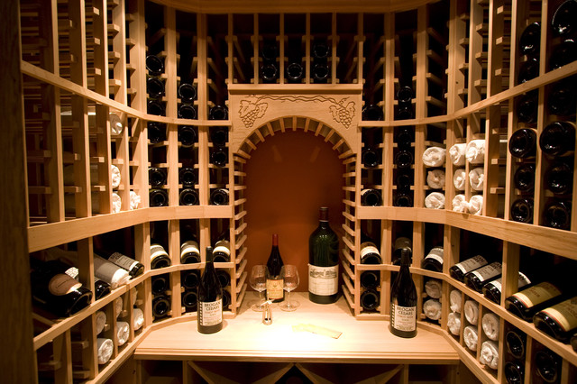 traditional wine cellar by Taylor Lombardo Architects