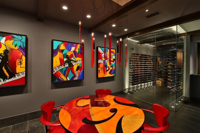 Home in Dallas Texas contemporary-wine-cellar & Home in Dallas Texas - Contemporary - Wine Cellar - Dallas - by ...