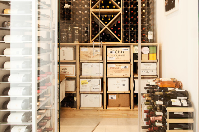 The Glass House contemporary-wine-cellar