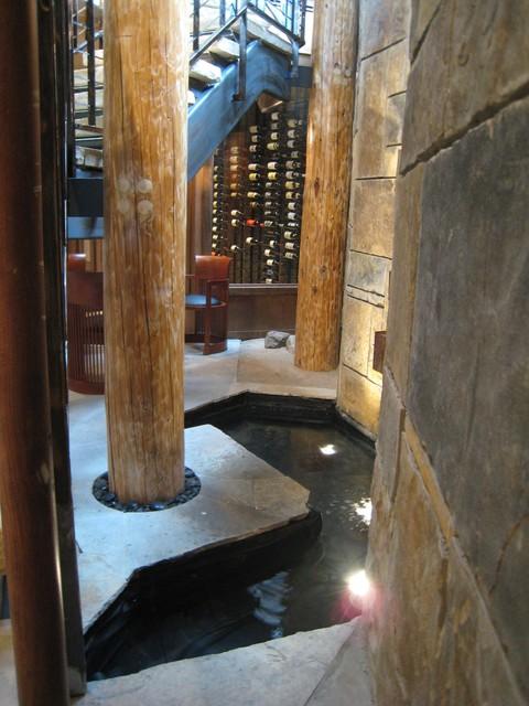 Three Peaks Residence modern-wine-cellar
