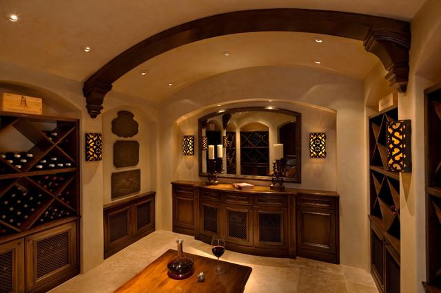 Tiburon Residence traditional-wine-cellar