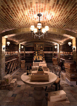 Vignette design tuesday inspiration wine cellars for Wine room ideas