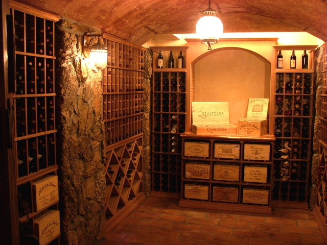 Traditional Wine Cellar Rustic Boston