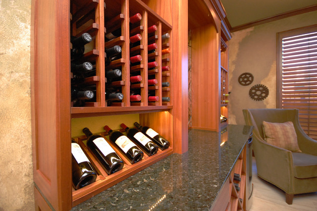 Transitional Wine Room and Dining Room transitional-wine-cellar