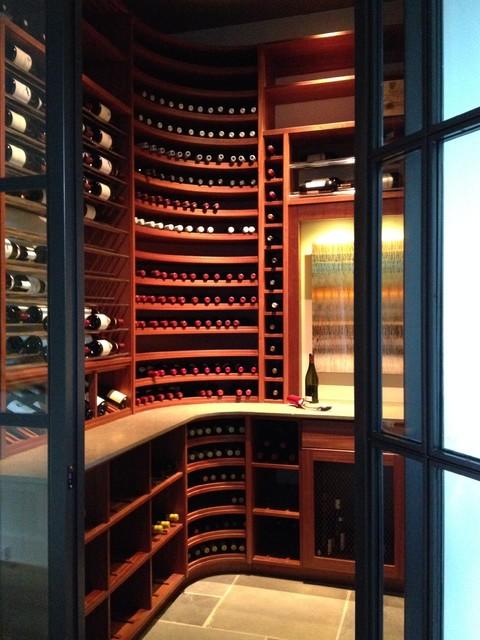 Transitional Wine Room Design - Transitional - Wine Cellar - Dallas ...