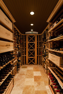 Tuscan-Style Tasting & Wine Rooms - Traditional - Wine ...
