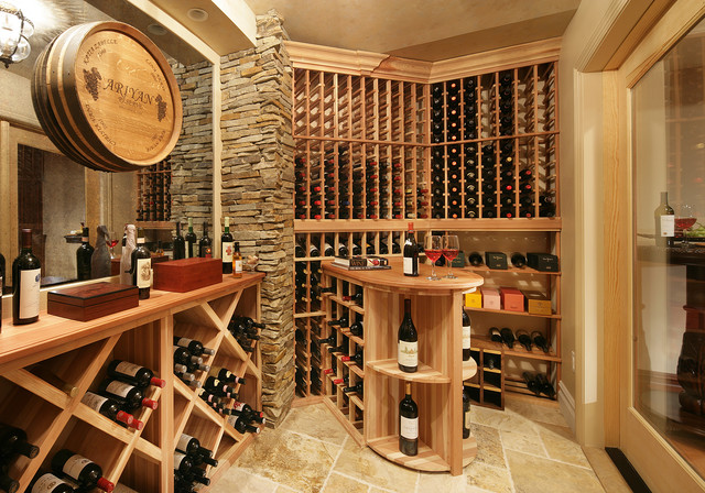 Tuscan wine cellar traditional wine cellar new york Wine shop decoration