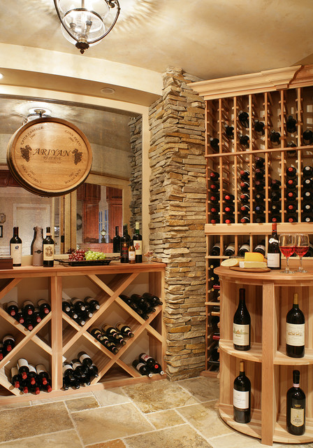 Tuscan Wine Cellar Traditional Wine Cellar New York By Creative Design