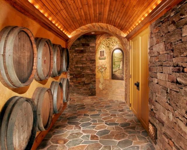 Tuscan Wine Cellar mediterranean-wine-cellar